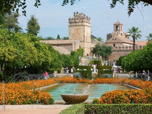 Jardins de l'Alcazar de Cordoue (Espagne) Wallpaper Mural