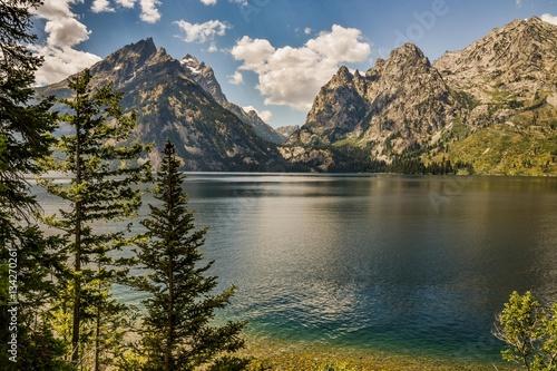 lake at the grand teton Fototapet