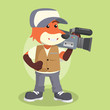 fox reporter cameraman illustration design