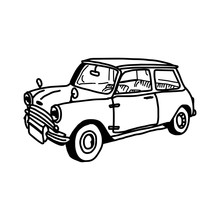 Illustration Vector Hand Drawn Doodle Of Retro Car Isolated On White Background