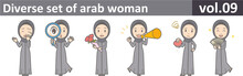 Diverse Set Of Arab Woman, EPS...