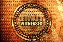 Jehovah's Witnesses, 3D Rendering, Grunge Metal Stamp