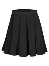 Flounce Black Skirt Isolated O...