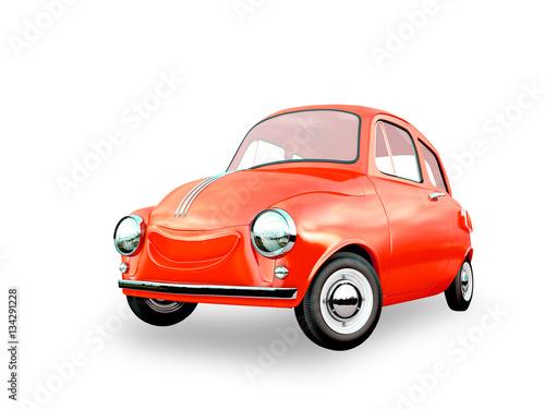 Staande foto Cartoon cars cartoon car 3D rendering