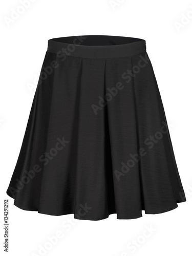 Flounce black skirt isolated on white Wallpaper Mural