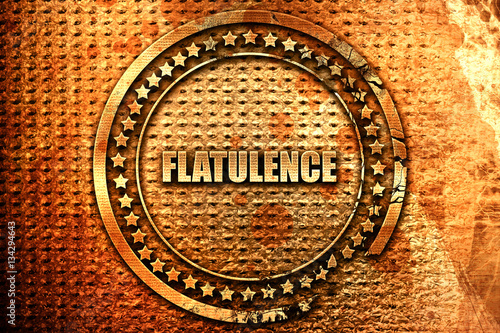 Fényképezés  flatulence, 3D rendering, grunge metal stamp