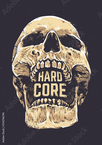 Hard Core Skull Tablou Canvas