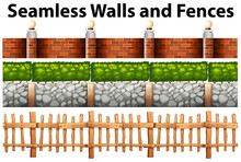 Seamless Walls And Fences In M...