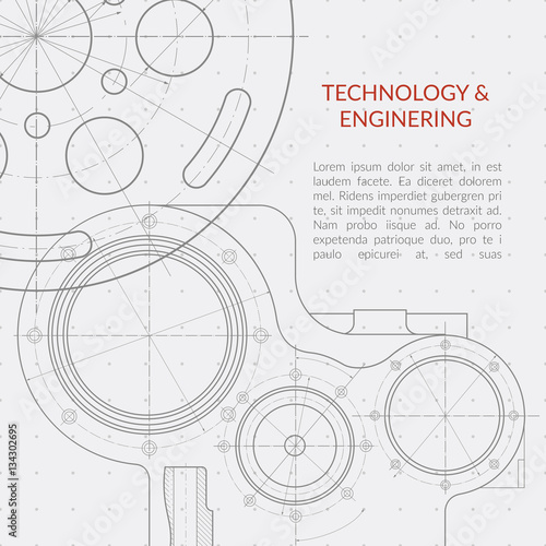 Abstract vector technology and engineering background with technical abstract vector technology and engineering background with technical mechanical drawing blueprint malvernweather Choice Image