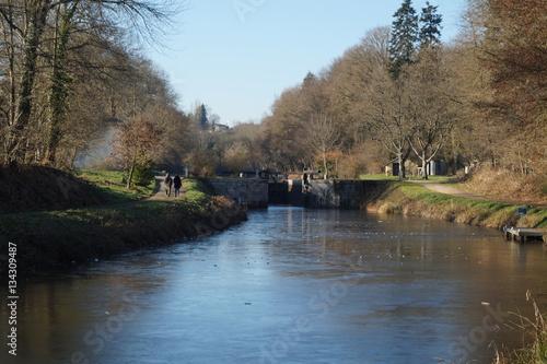 Fényképezés  canal, Ille, et, Rance, saint-germain sur Ille; Bretagne, Ille et vilaine