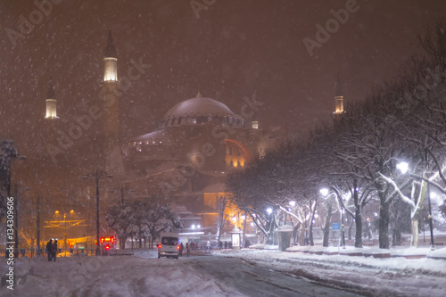 Istanbul snow and winter. Poster