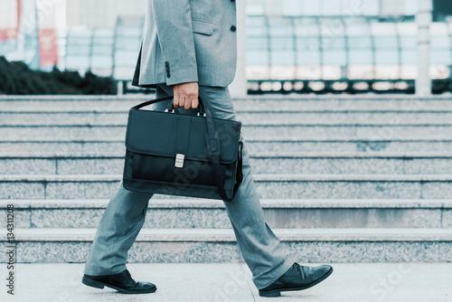 Businessman with briefcase Canvas Print