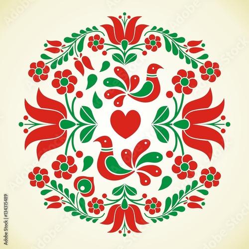 Fotografija  Hungarian folk vector motif