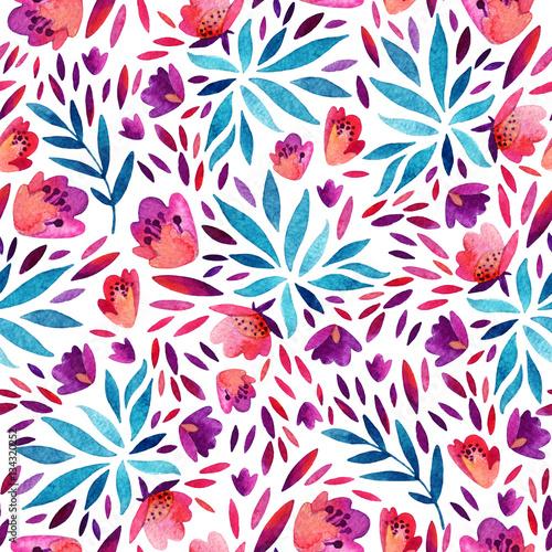 akwarela-slodkie-kwiaty-ozdobne-wzor