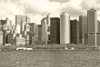 View of skyscrapers in New York City with the Hudson Bay