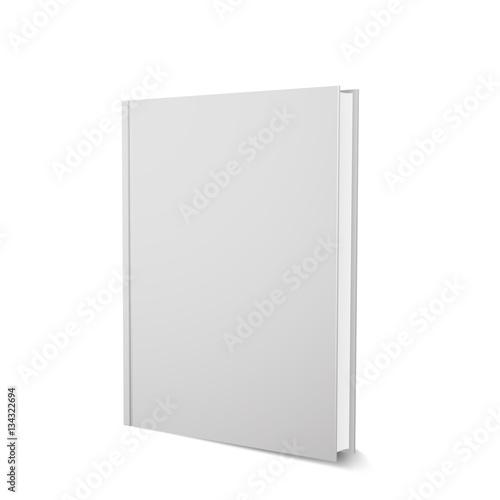 Fotografie, Obraz  Vector book template, upright, realistic design, isolated on white