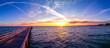 canvas print picture - Ostsee im Sonnenuntergang