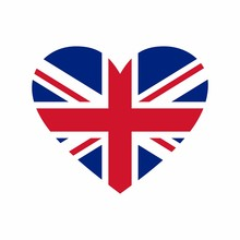 United Kingdom Flag Vector Design Isolated On White Background .