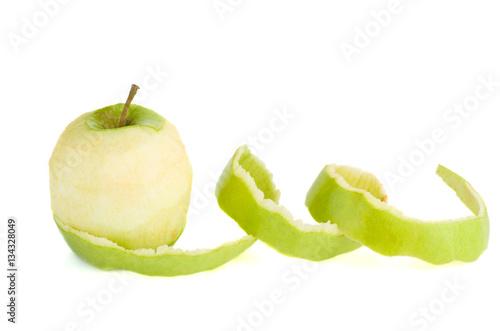 Fotografía  Peeled green apple