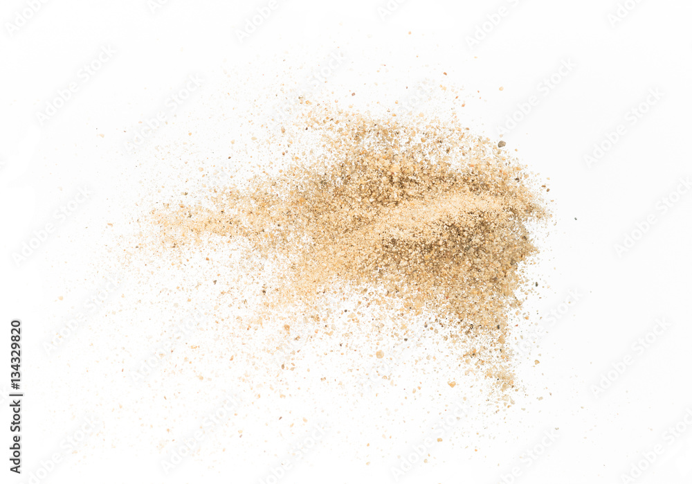 Fototapety, obrazy: Sand  explode on white background ,throwing freeze stop motion