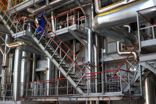 Valokuva  Worker at the factory.Industrial business.