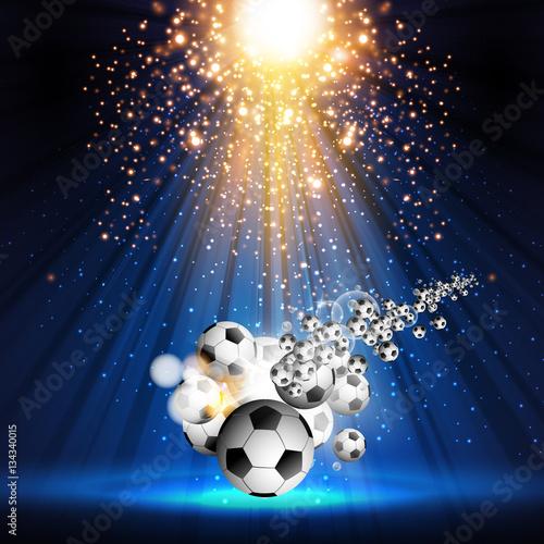 Foto op Canvas Licht, schaduw soccer ball stage light spotlight illustration easy all editable
