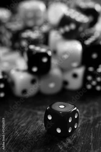 фотография  Pile of Dice for Gaming Gambling and Playing Games of Chance