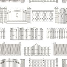 Set Of Gates And Fences