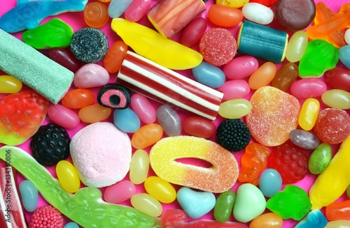 Poster Confiserie a lot of colourful sweet candy