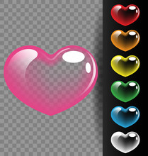 Colorful Heart Translucent For Valentine Day And Wedding Concept