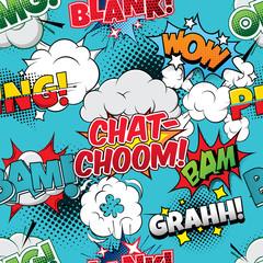 Tapeta Chat-choom Seamless comics background