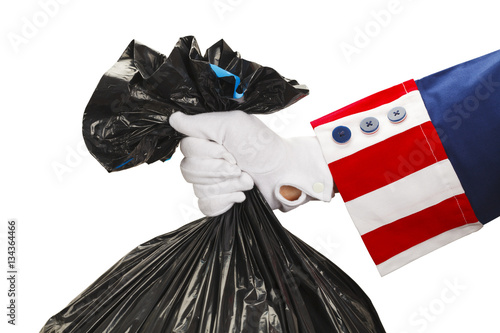Fotografia, Obraz  Uncle Sam Taking Out Trash