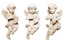 3 Engel Mit Trompete - Creme