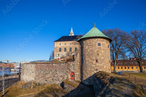 Photo  Panoramic view of Akershus Fortress in Oslo. Norway