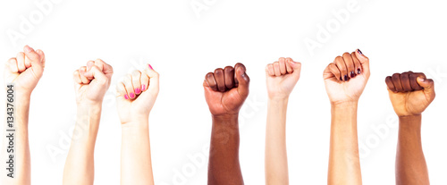 Multi-ethnic Young Adults' Hands Fototapet