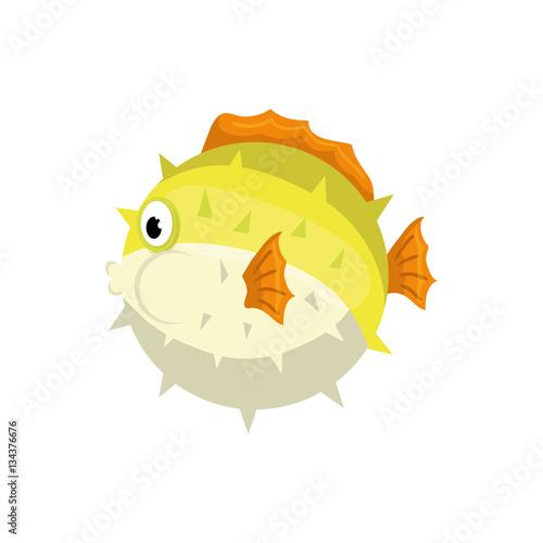 Sea fish animal icon vector illustration graphic design Canvas Print