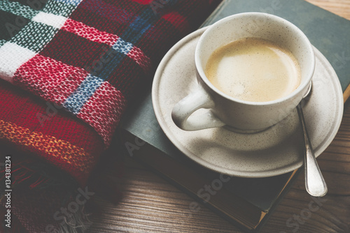 Wall Murals Cafe Cozy home coffee cup, warm details