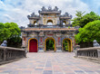 Main gate in the old citadel of Hue, the imperial forbidden purple city