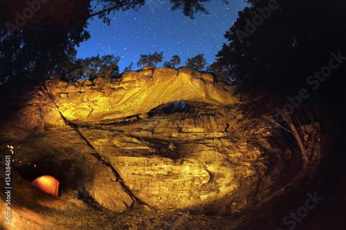 Photo  Rock Hawkeye night