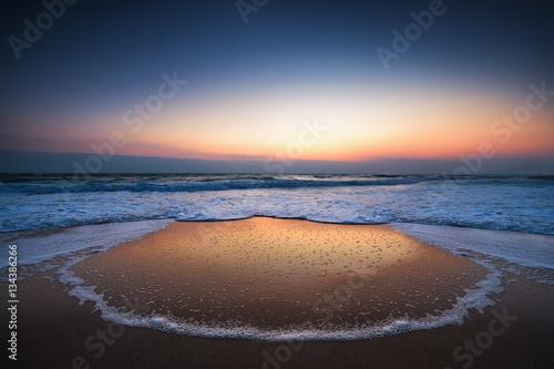 Poster Cappuccino Sunrise over the sea