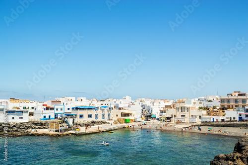 Tuinposter Canarische Eilanden fishing village of el cotillo at fuerteventura canary island, spain