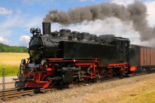 Fotografía  steam train on island Rugen in Germany