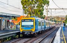 Melbourne Metro Train At Victo...