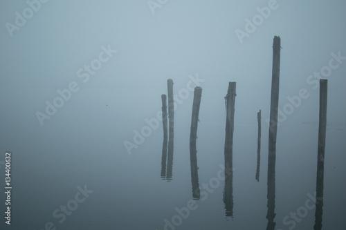 6 Wooden Pillars