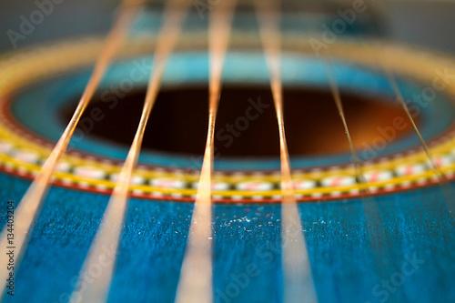 Fotografie, Obraz Guitar string vibration