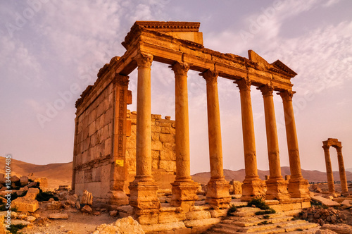 Photo Ancient temple of Palmyra, Syria
