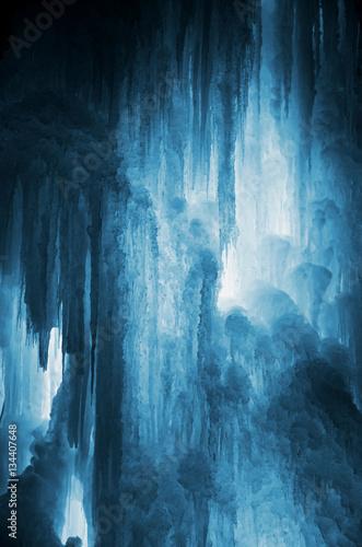 Tableau sur Toile Huge ice icicles