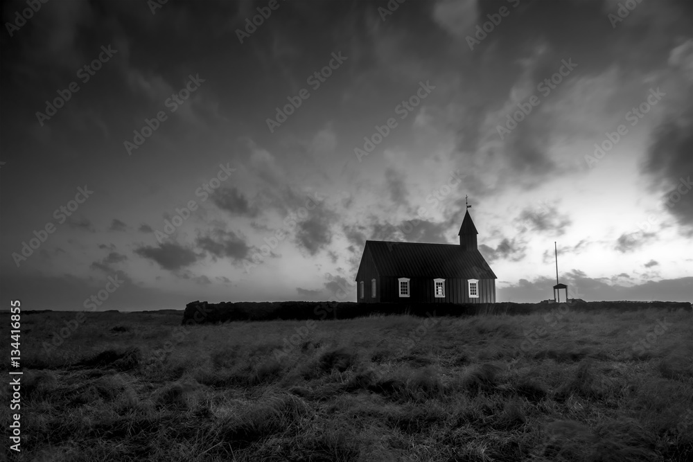 Fototapeta Old countryside church in Iceland