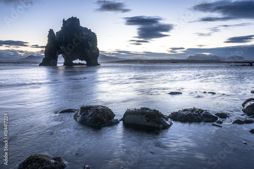 Dinosaur Rock Beach in Iceland Plakat