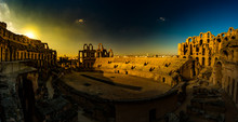 Ruins Of The Largest Colosseum In In North Africa. El Jem,Tunisia.